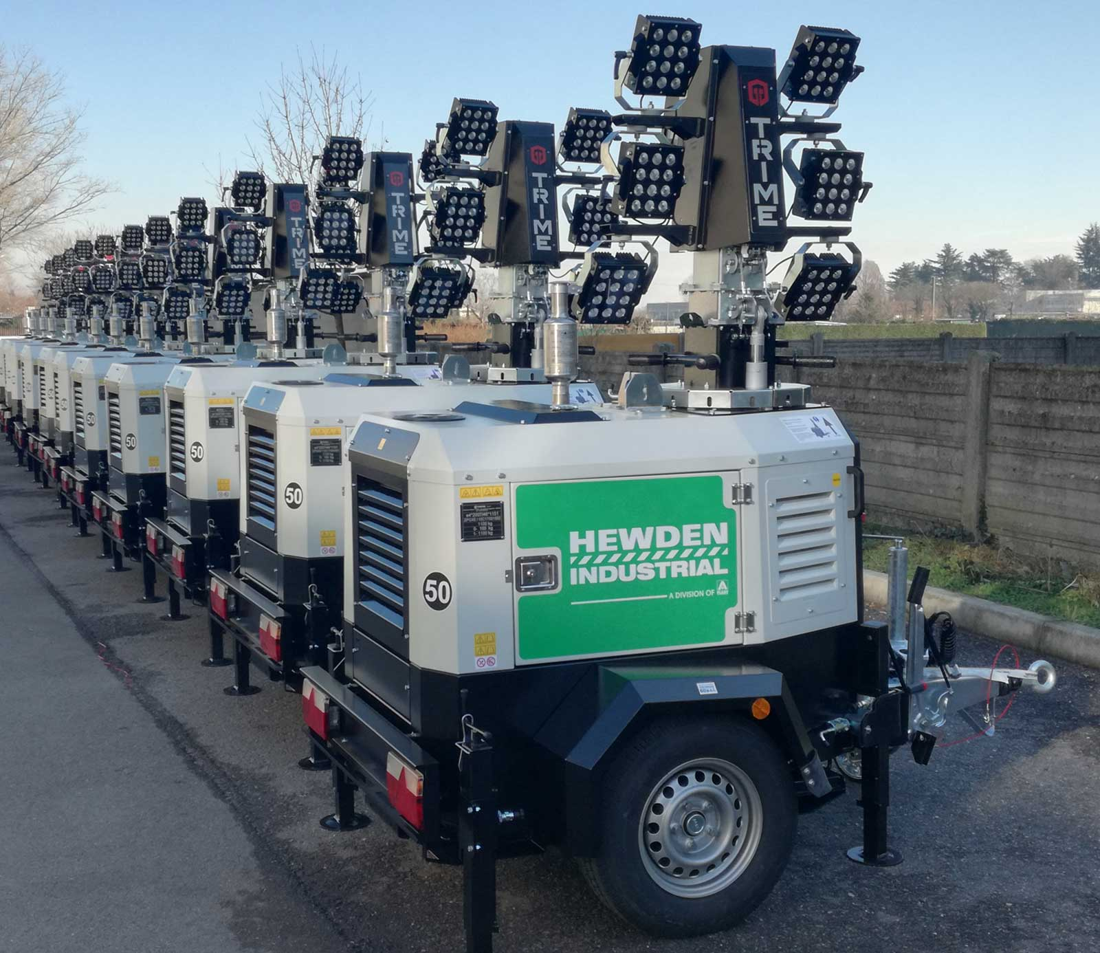 Light Tower Networks: Trime S.p.a. Lighting Towers