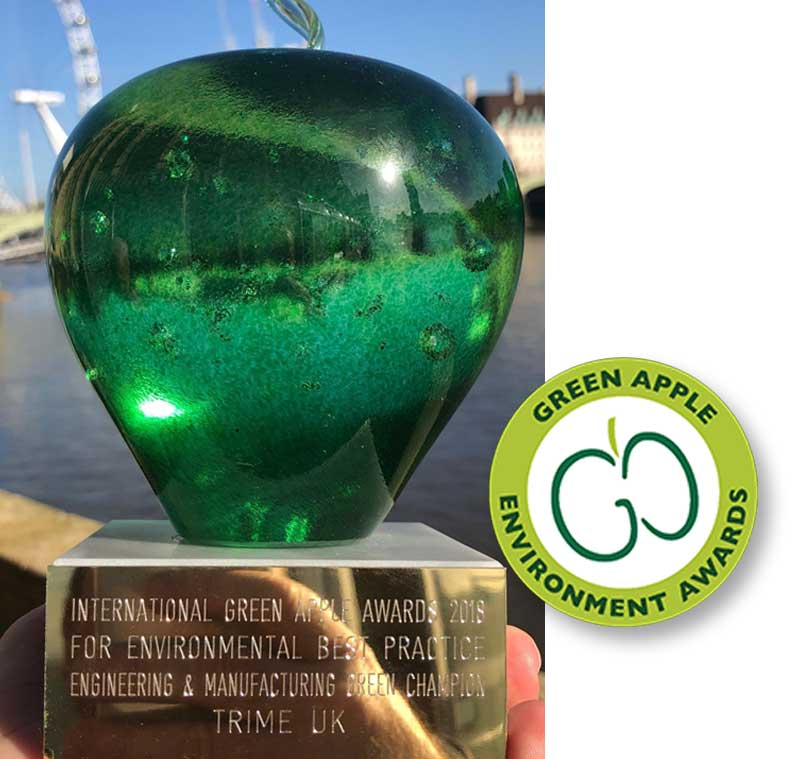 Trime awarded at the Green Apple Awards