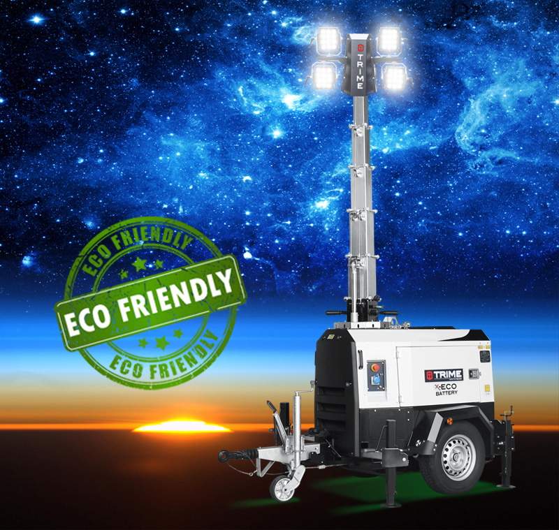 X-Eco Battery, an eco-friendly and portable light tower